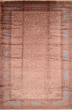 Persian Mahal Brown Rectangle 12x18 ft Wool Carpet 89287