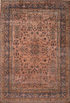 "Kerman Brown Hand Knotted 9'10"" X 14'8""  Area Rug 100-89768"