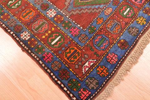 Persian Baluch Green Rectangle 5x8 Ft Wool Carpet 89770