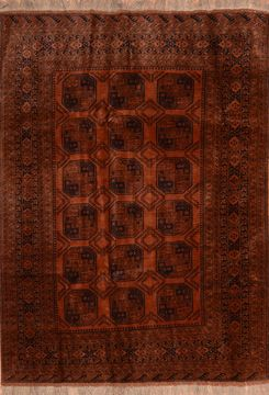 "Khan Mohammadi Brown Hand Knotted 6'8"" X 9'4""  Area Rug 100-89774"