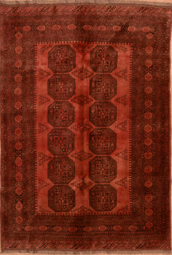 "Pak-Persian Red Hand Knotted 5'5"" X 8'4""  Area Rug 100-89782"