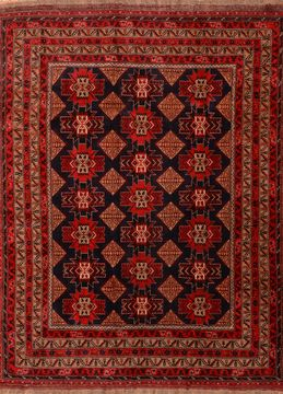 "Khan Mohammadi Red Hand Knotted 9'10"" X 12'9""  Area Rug 100-89794"
