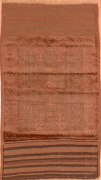 Afghan Baluch Brown Rectangle 3x5 ft Wool Carpet 89798