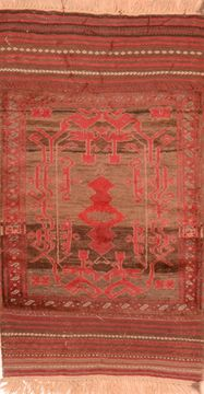 Afghan Baluch Brown Rectangle 3x5 ft Wool Carpet 89819