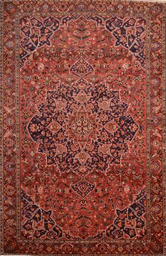 Persian Bakhtiar Brown Rectangle 11x16 ft Wool Carpet 89841