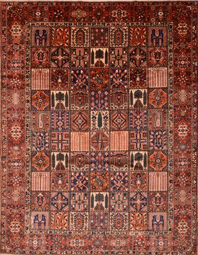 "Bakhtiar Brown Hand Knotted 9'11"" X 12'8""  Area Rug 100-89844"