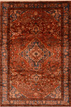 "Nahavand Brown Hand Knotted 6'7"" X 9'7""  Area Rug 100-89889"