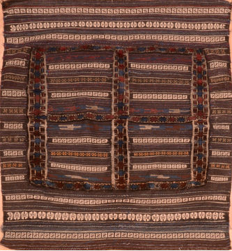 "Baluch Brown Square Flat Woven 4'1"" X 4'6""  Area Rug 100-89903"