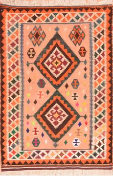 "Qashqai Orange Flat Woven 3'1"" X 4'6""  Area Rug 100-89910"