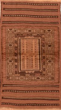 "Baluch Brown Hand Knotted 2'9"" X 4'11""  Area Rug 100-89948"