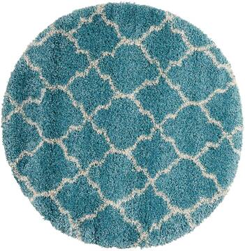 "Nourison Amore Blue Round 3'11"" X 3'11"" Area Rug  805-96051"