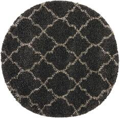 "Nourison Amore Grey Round 3'11"" X 3'11"" Area Rug  805-96066"