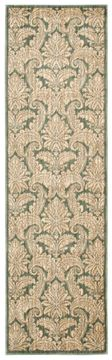 Nourison ARISTO Green Runner 6 to 9 ft polyester Carpet 96247