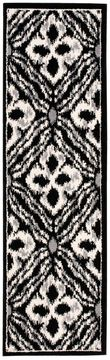 "Nourison ATASH Black Runner 2'2"" X 7'3"" Area Rug 99446266804 805-96333"