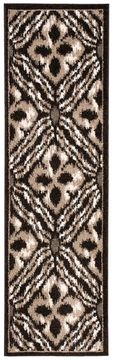 "Nourison ATASH Brown Runner 2'2"" X 7'3"" Area Rug 99446266873 805-96337"