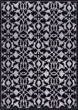 "Nourison ATASH Black 3'11"" X 5'10"" Area Rug 99446267023 805-96346"