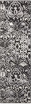 "Nourison ATASH Black Runner 2'2"" X 7'3"" Area Rug 99446267207 805-96355"