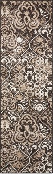 "Nourison ATASH Brown Runner 2'2"" X 7'3"" Area Rug 99446267252 805-96359"