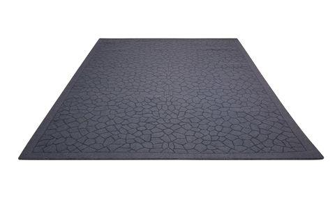 Nourison Barcelona Grey Rectangle 8x10 Ft Wool Carpet