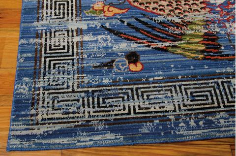 Barclay Butera Bbl16 Dynasty Blue Rectangle 10x13 Ft Wool