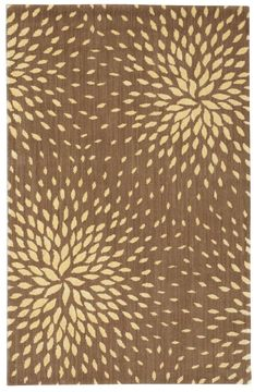 "Nourison CAPRI Brown 3'6"" X 5'6"" Area Rug 99446020437 805-96857"