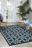 Nourison CARIBBEAN Blue 93 X 129 Area Rug 99446239693 805-96917 Thumb 1