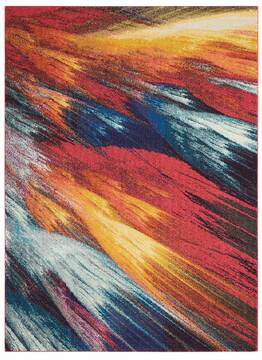 Nourison Celestial Multicolor Rectangle 4x6 ft Polypropylene Carpet 96996
