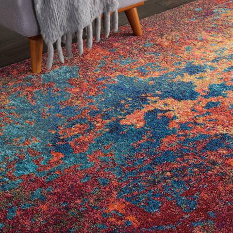 Nourison Celestial Multicolor Rectangle 8x10 Ft