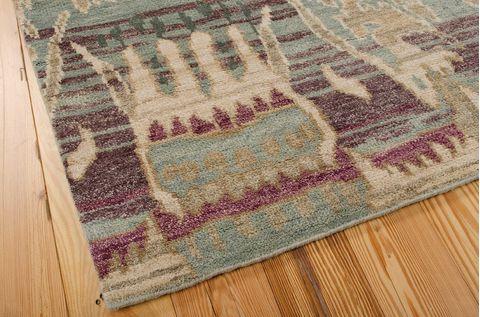 Nourison Dune Blue Rectangle 8x10 Ft Wool Carpet 97536