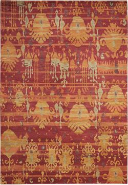 "Nourison DUNE Red 5'6"" X 8'0"" Area Rug 99446161758 805-97565"