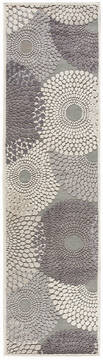 "Nourison Graphic Illusions Grey Runner 2'0"" X 5'9"" Area Rug  805-98378"