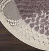 Nourison Graphic Illusions Grey Round 53 X 53 Area Rug  805-98382 Thumb 1