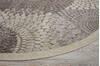 Nourison Graphic Illusions Grey Round 53 X 53 Area Rug  805-98382 Thumb 5