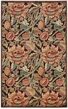 "Nourison GRAPHIC ILLUSIONS Brown 3'6"" X 5'6"" Area Rug 99446132314 805-98494"