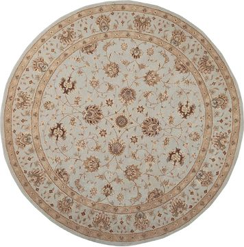 Nourison HERITAGE HALL Blue Round 9 ft and Larger Wool Carpet 98754