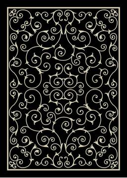 "Nourison Home & Garden Black 10'0"" X 13'0"" Area Rug  805-98805"
