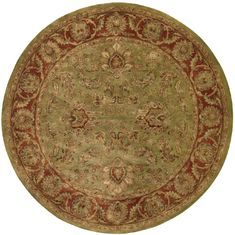 Nourison JAIPUR Green Round 5 to 6 ft Wool Carpet 99409