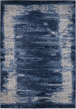 "Kathy Ireland KI24 ILLUSION Blue 7'10"" X 10'6"" Area Rug 99446346513 805-99990"